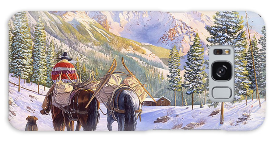 Horses Galaxy Case featuring the painting High Country by Howard Dubois