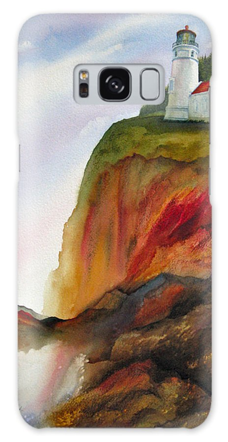 Coastal Galaxy S8 Case featuring the painting High Ground by Karen Stark