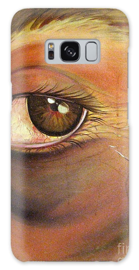 Eyes Galaxy Case featuring the painting High Horse by Yxia Olivares