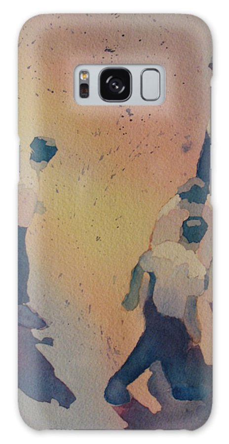 Men Galaxy S8 Case featuring the painting High Noon At The Gravel Spit I by Jenny Armitage
