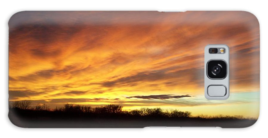 High Plains Galaxy S8 Case featuring the photograph High Plains Sunset by Elbert Shackelford