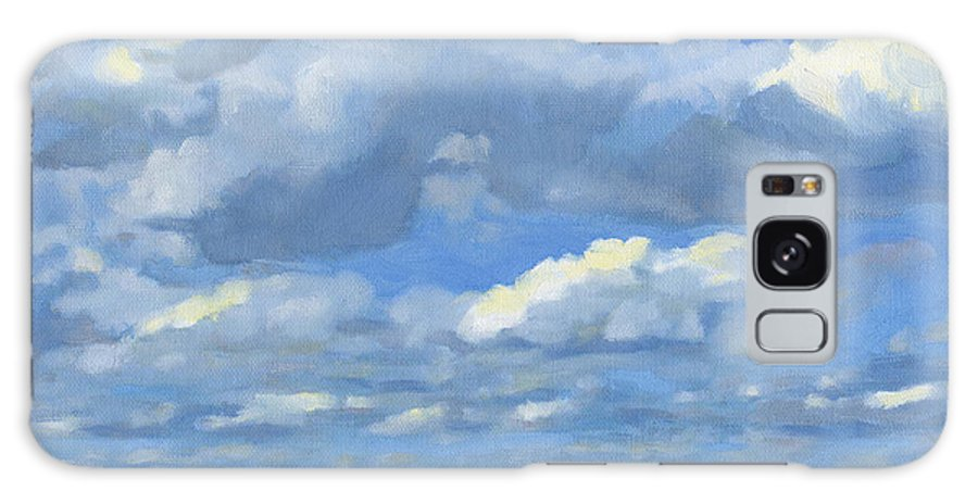 Landscape Galaxy Case featuring the painting High Summer by Bruce Morrison
