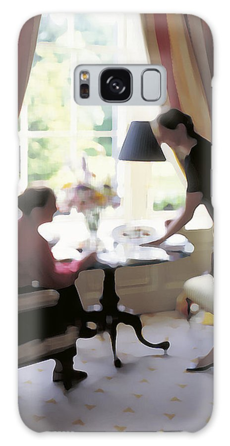 High Tea Galaxy Case featuring the photograph High Tea At St. Clarens Manor by Carl Purcell