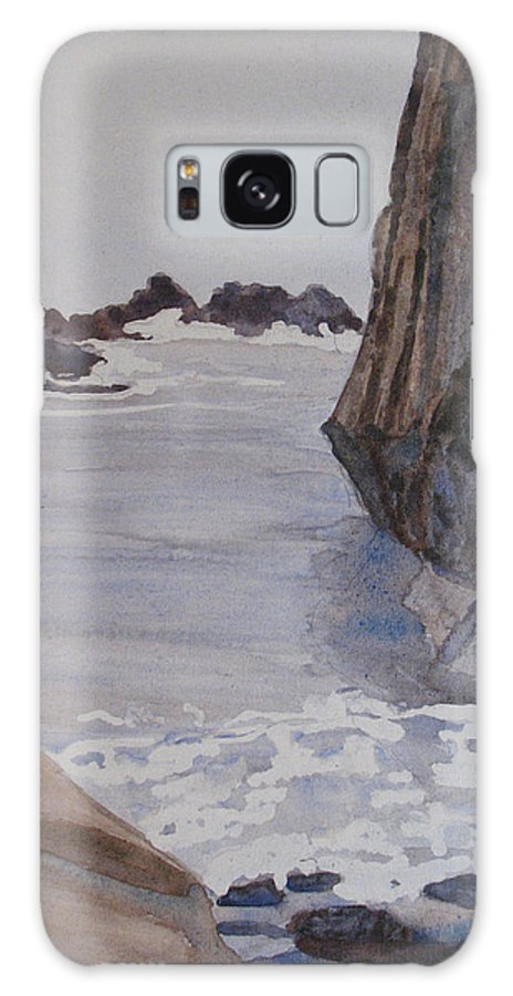 Seapcape. Seascapes Galaxy S8 Case featuring the sculpture High Tide At Seal Rock by Jenny Armitage