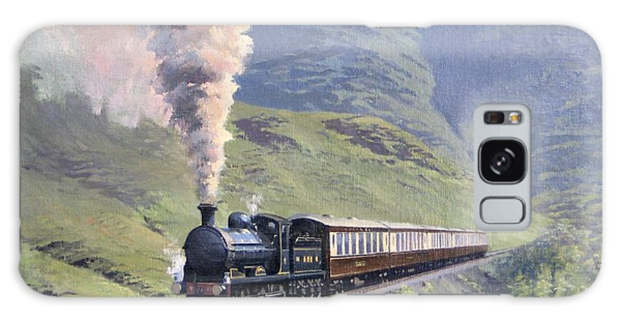 Steam Galaxy Case featuring the painting Highland Steam by Richard Picton