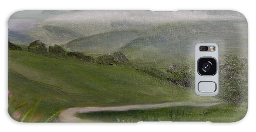 Pathway Galaxy Case featuring the painting Highway Into The Hills by Toni Berry