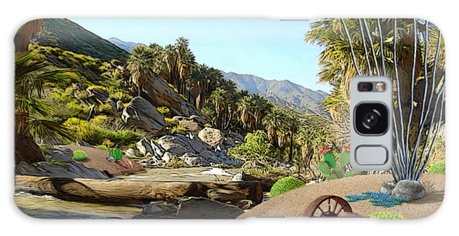Desert Galaxy Case featuring the digital art Hiking the Canyons by Snake Jagger