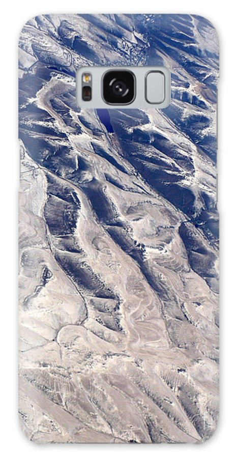 Aerial Galaxy S8 Case featuring the photograph Hills And Valleys Aerial by Carol Groenen