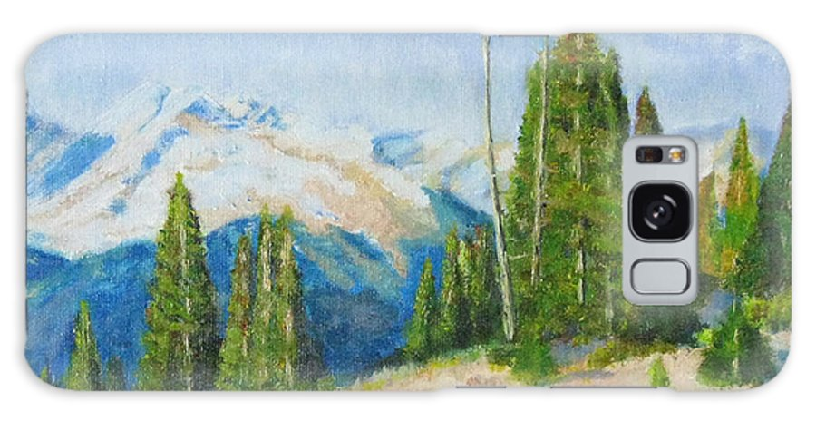 Landscape Galaxy S8 Case featuring the painting Hillside In Spring, 9x12, Oil, '07 by Lac Buffamonti