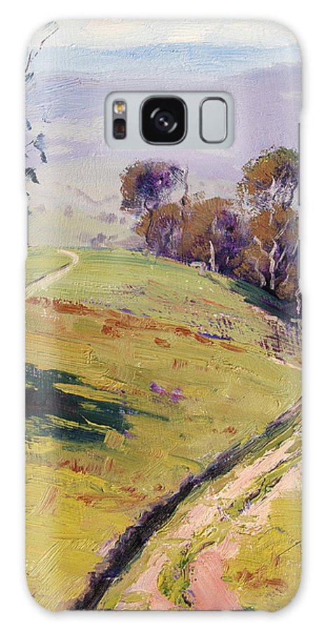 Rural Galaxy S8 Case featuring the painting Hilly Landscape Lithgow by Graham Gercken