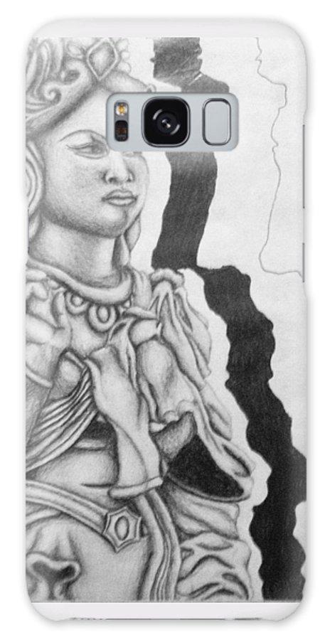 Hindu Galaxy S8 Case featuring the drawing Hindu Goddess by Ashley Warbritton