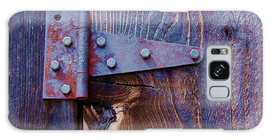 Hinge Galaxy Case featuring the photograph Hinged by Debbi Granruth