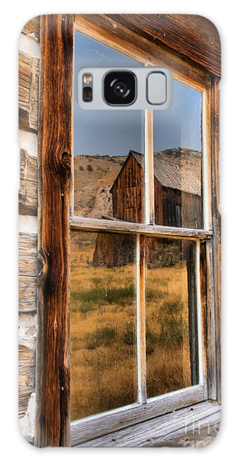 Bannack Galaxy S8 Case featuring the photograph Historic Bannack Mining Reflections by Adam Jewell