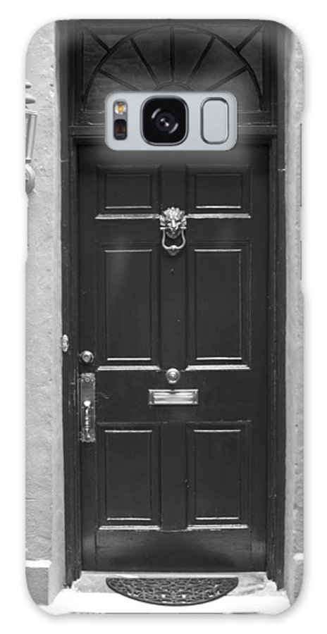Historic Lion Door Downtown Charleston South Carolina Home Residense Front Dustin Ryan Black White Galaxy S8 Case featuring the photograph Historic Lion Door by Dustin K Ryan
