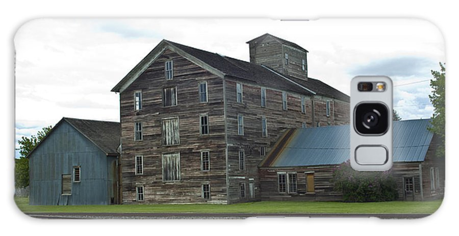 Historical Galaxy S8 Case featuring the photograph Historical Barron Wheat Flour Mill In Oakesdale Wa by Louise Magno