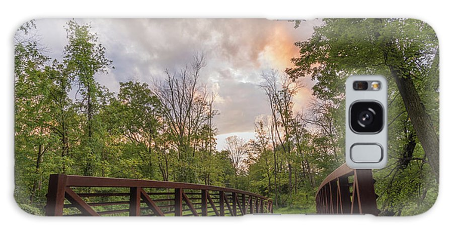 Covered Bridge Park Galaxy S8 Case featuring the photograph Hit The Trail by Kristopher Schoenleber