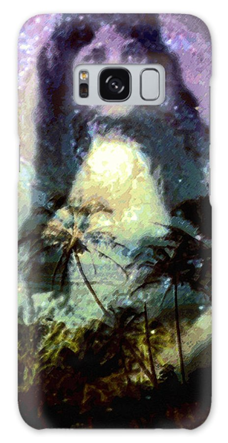 Tropical Interior Design Galaxy Case featuring the photograph Ho Omana O by Kenneth Grzesik