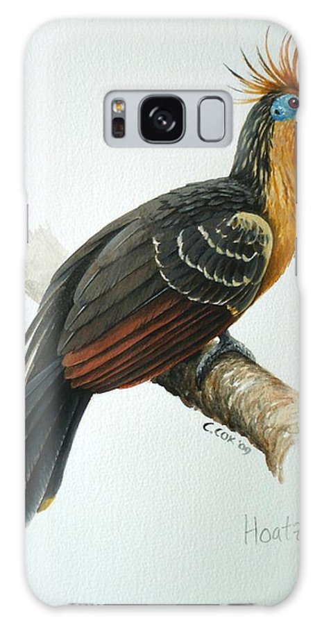 Hoatzin Galaxy S8 Case featuring the painting Hoatzin by Christopher Cox