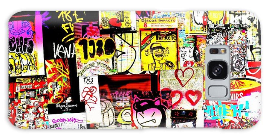 Graffiti Galaxy S8 Case featuring the photograph Hola Barcelona by Funkpix Photo Hunter
