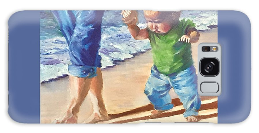 Mother And Child Galaxy S8 Case featuring the painting Hold My Hand by Robin Janota