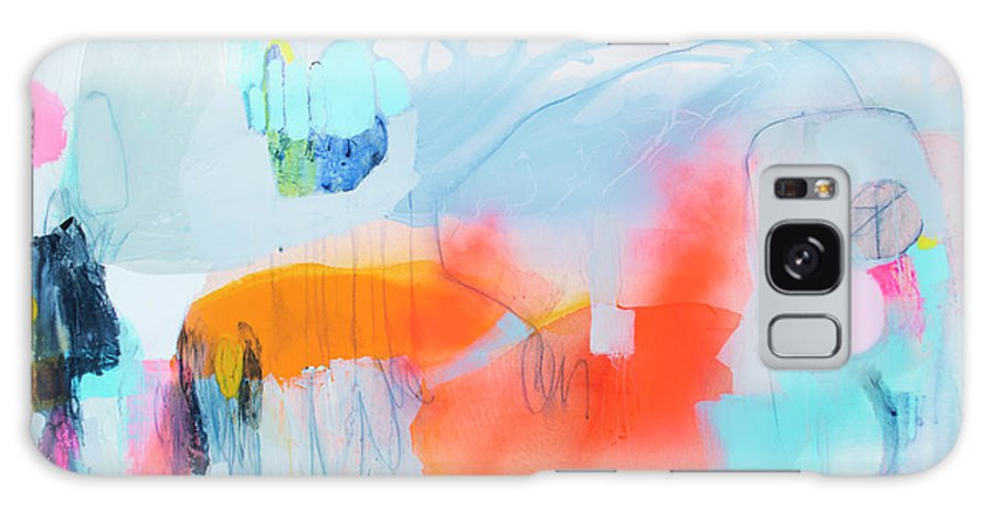 Abstract Galaxy Case featuring the painting Hold Out by Claire Desjardins