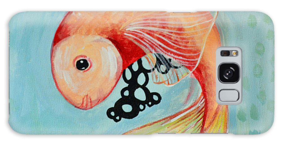 Fish Galaxy S8 Case featuring the painting Hold The Roe by Amanda Christine Shelton