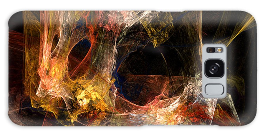 Abstract Galaxy Case featuring the digital art Holes by Ruth Palmer