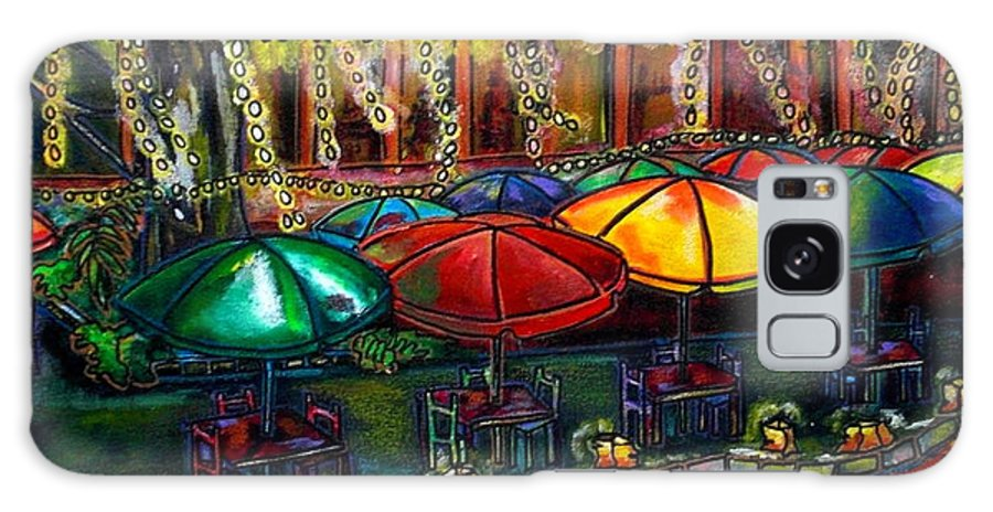 San Antonio Galaxy S8 Case featuring the painting Holiday Riverwalk by Patti Schermerhorn