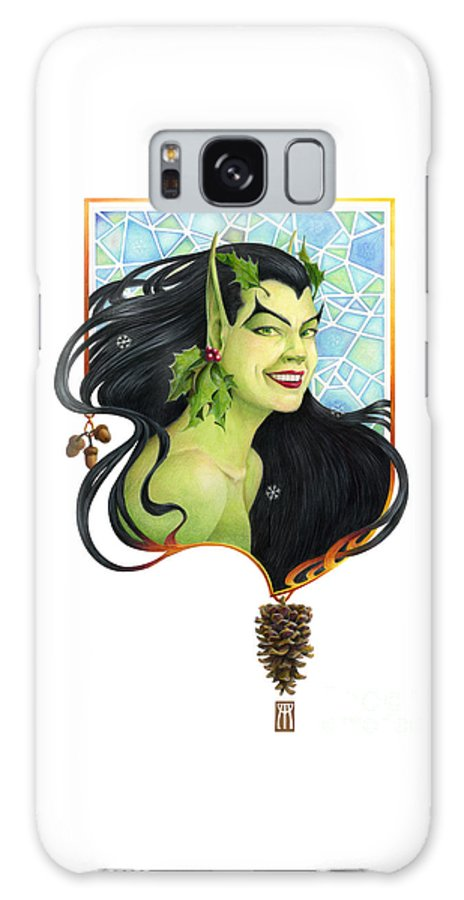 Acorn Galaxy S8 Case featuring the mixed media Holly Elf by Melissa A Benson