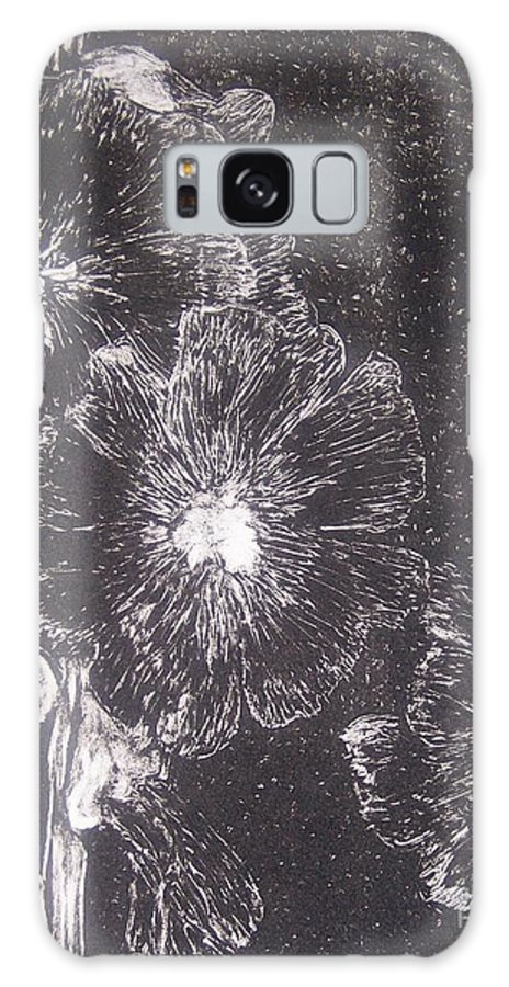 Flowers Galaxy Case featuring the painting Hollyhock by Emily Young