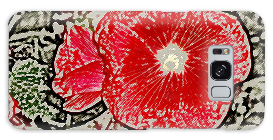 Flower Galaxy S8 Case featuring the photograph Hollyhock by Wayne Potrafka