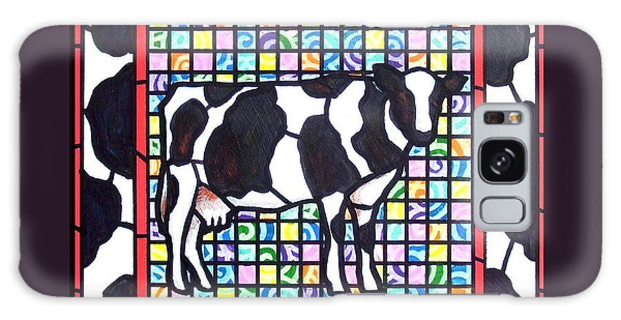 Cattke Galaxy Case featuring the painting Holstein 3 by Jim Harris