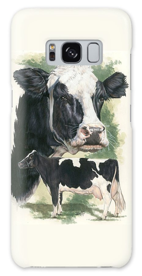 Cow Galaxy Case featuring the mixed media Holstein by Barbara Keith