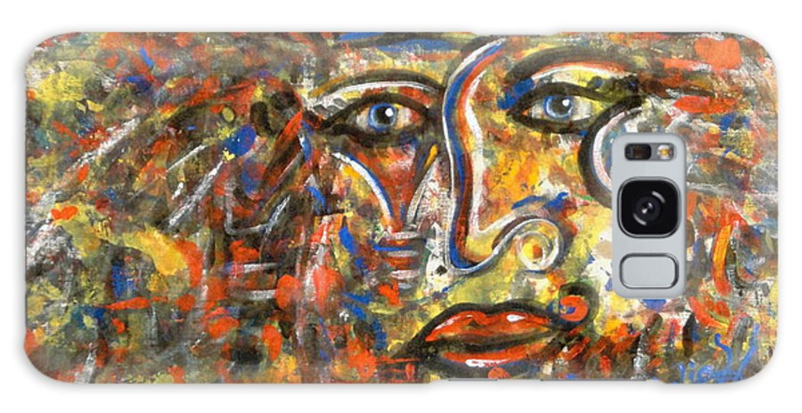 Free Expressionism Galaxy S8 Case featuring the painting Holy Man by Natalie Holland