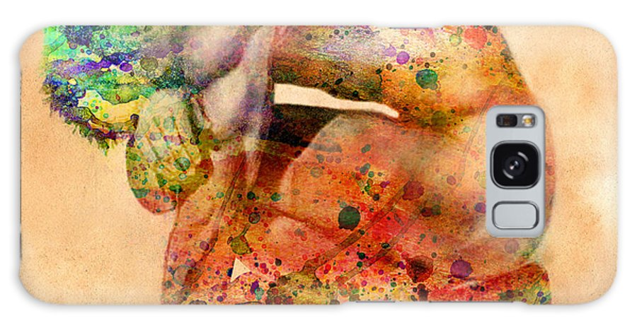 Male Nude Galaxy Case featuring the digital art Hombre Triste by Mark Ashkenazi