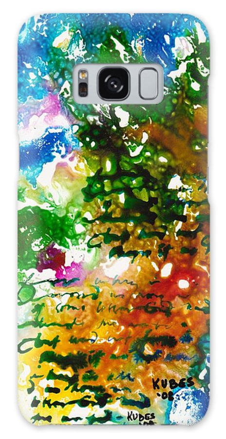 Abstract Galaxy Case featuring the mixed media Home For Christmas by Susan Kubes
