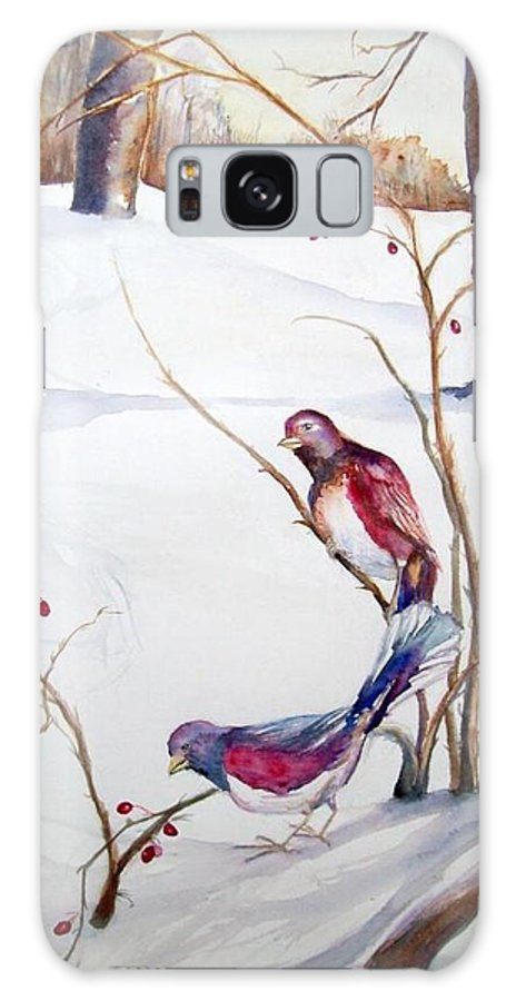 Winter Galaxy S8 Case featuring the painting Home by Laura Rispoli