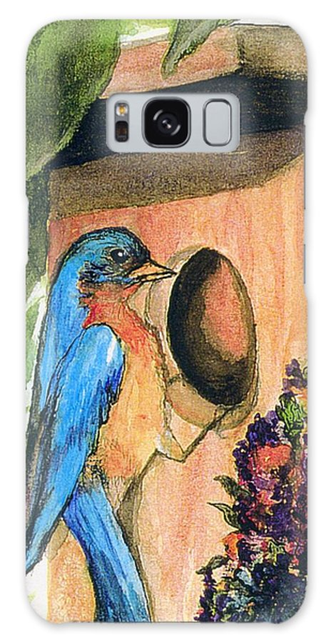 Bluebirds Galaxy S8 Case featuring the painting Home Sweet Home by Gail Kirtz