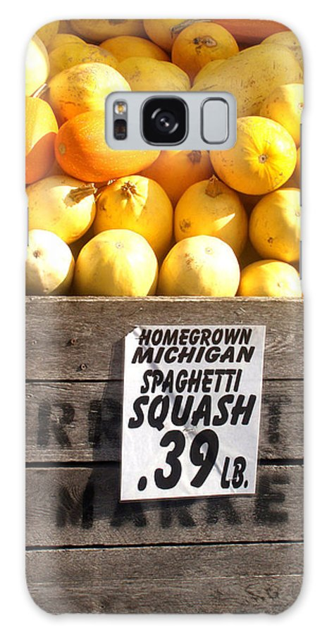 Michigan Galaxy Case featuring the photograph Homegrown Michigan Spaghetti Squash by Wayne Potrafka