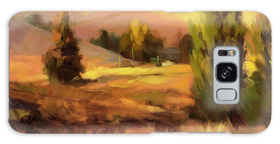 Landscape Galaxy Case featuring the painting Homeland 1 by Steve Henderson