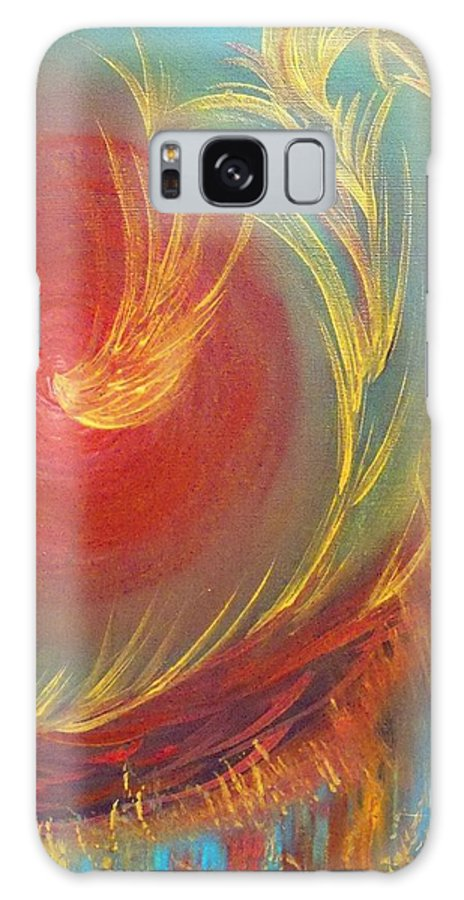 Bridegroom Galaxy S8 Case featuring the painting Honey Kiss Me by Deborah Montana