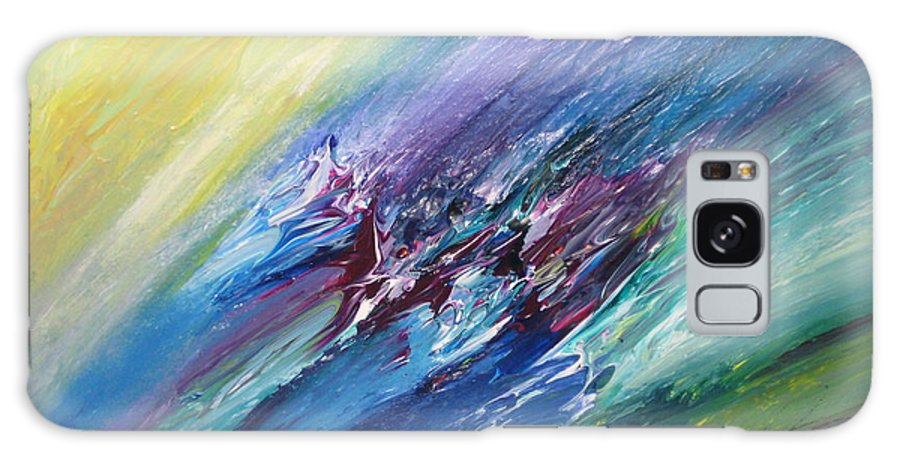 Abstract Galaxy Case featuring the painting Honeymoon Bliss - C by Brenda Basham Dothage