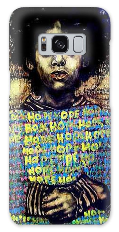 Galaxy Case featuring the mixed media Hope by Chester Elmore