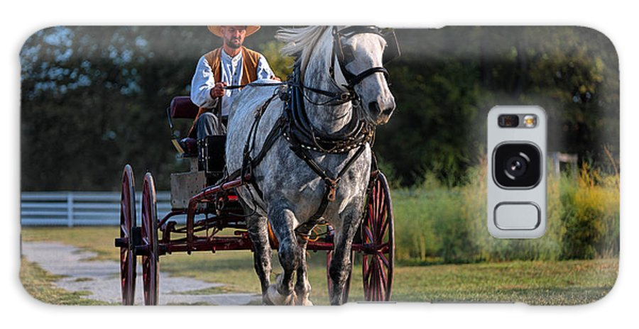 Horse Galaxy S8 Case featuring the photograph Horse And Buggy by Lone Dakota Photography