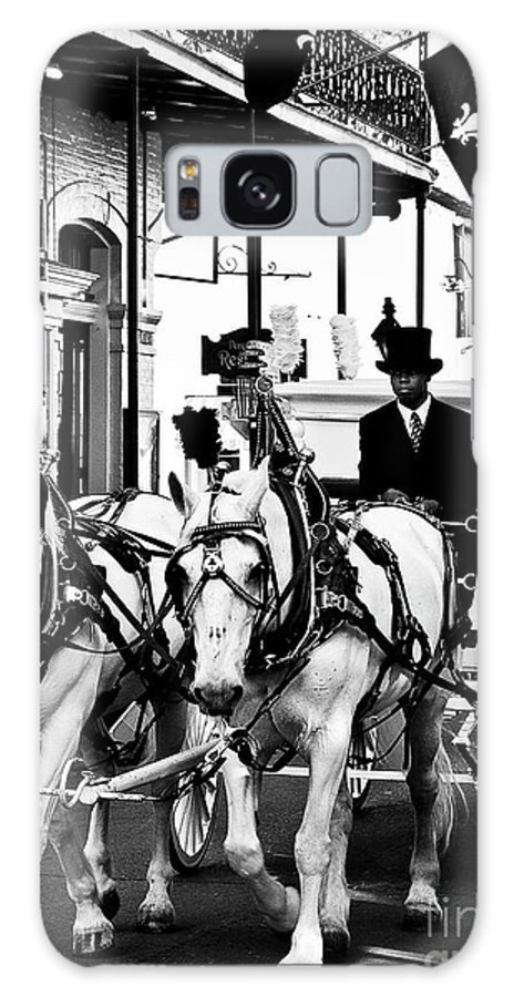 Horse Galaxy S8 Case featuring the photograph Horse Drawn Funeral Carriage by Kathleen K Parker