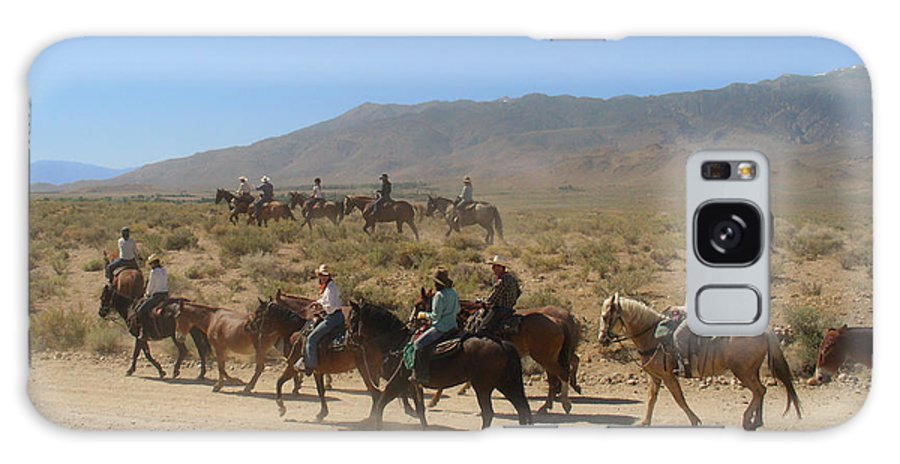 Horses Galaxy Case featuring the photograph Horse Drive From June Lake To Bishop California by Christine Till