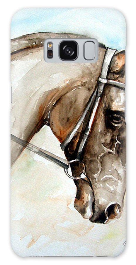 Horse Galaxy S8 Case featuring the painting Horse Head by Leyla Munteanu
