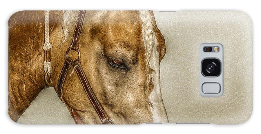 Horse Galaxy S8 Case featuring the digital art Horse Head Portrait by Randy Steele