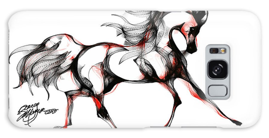 Horse Galaxy S8 Case featuring the digital art Horse In Extended Trot by Stacey Mayer