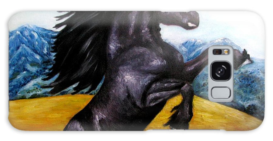 Horse Galaxy S8 Case featuring the painting Horse Oil Painting by Natalja Picugina